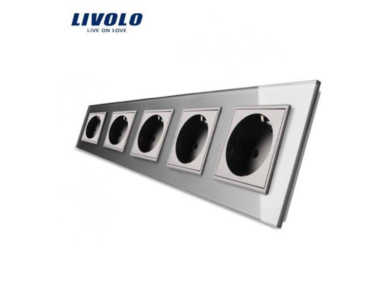 Livolo Design Steckdose | Fünffach | EU