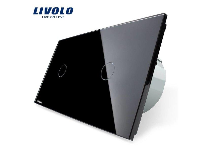 Livolo Design Touch-schalter | 2 x einpolige | 2 Fach