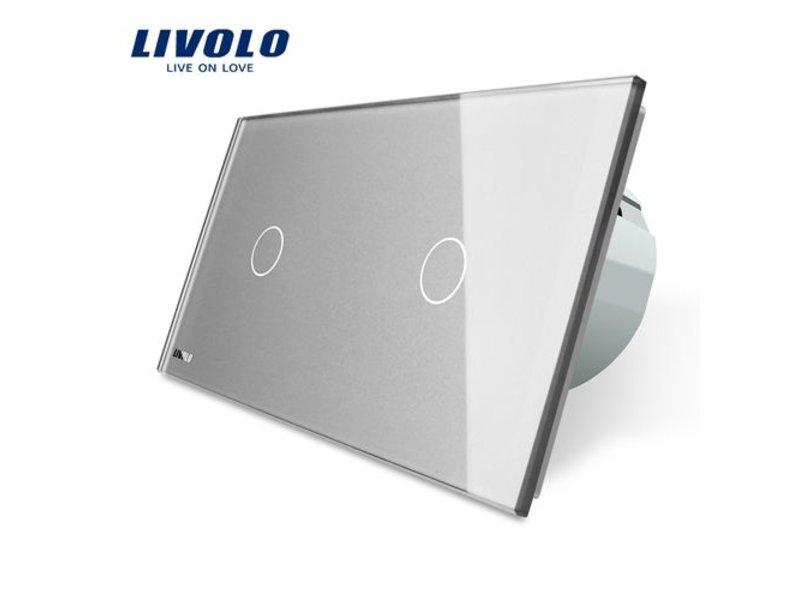 Livolo Design Touch-schalter | 2 x einpolige | 2 Fach - Touch ...