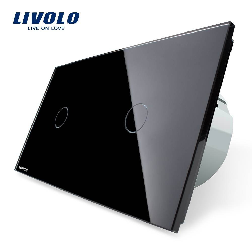 Livolo Design Touch Dimmer Single Pole 1 Onon Switch For 2way Operation Of Accessories With Their