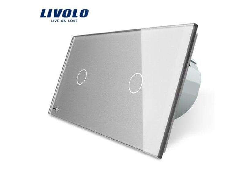Design Touch Dimmer | Enkelpolig (1-polig) + Enkelpolig (1-polig) | 2 Raams