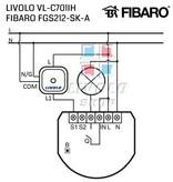 Design Touch-Schalter | unipolar | Geeignet für Fibaro | 1 Fach