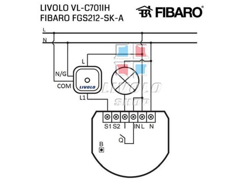 Design Touch-Schalter   unipolar   Geeignet für Fibaro   1 Fach