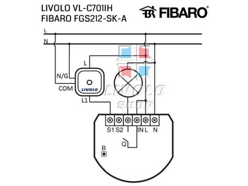 Design Touch Switch Single pole | Suitable for Fibaro | 1 Hole