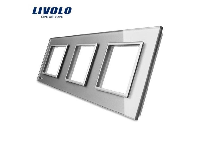Design Glass Panel | 3 x Module/Socket | 3 Hole