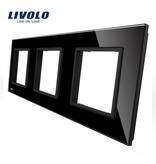 Design Glasplatte | 3 x Modul/Steckdose | 3 Fach