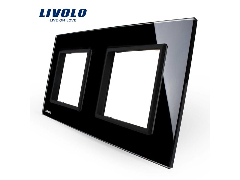 Design Glass Panel | Module/Socket + Module/Socket | 2 Hole
