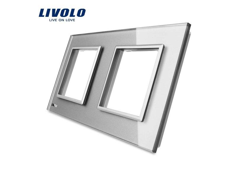 Livolo Design Glass Panel | Module/Socket + Module/Socket | 2 Hole
