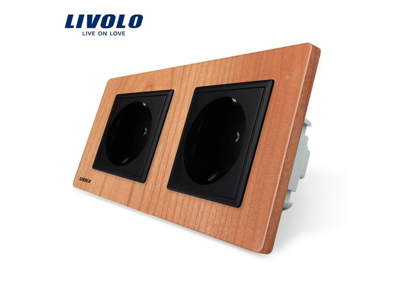 Livolo Design Socket | Dual | 2 Hole | EU