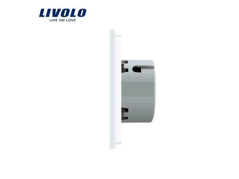 Livolo Design Touch Schakelaar | Enkelpolig + Enkelpolig | 2 Raams