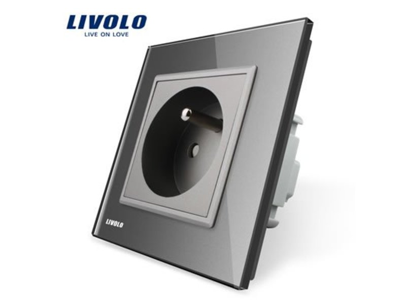 Livolo Design Wandcontactdoos | Enkelvoudig | 1 Raams | FR