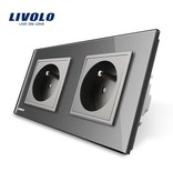 Livolo Design Socket | Dual | 2 Hole | FR