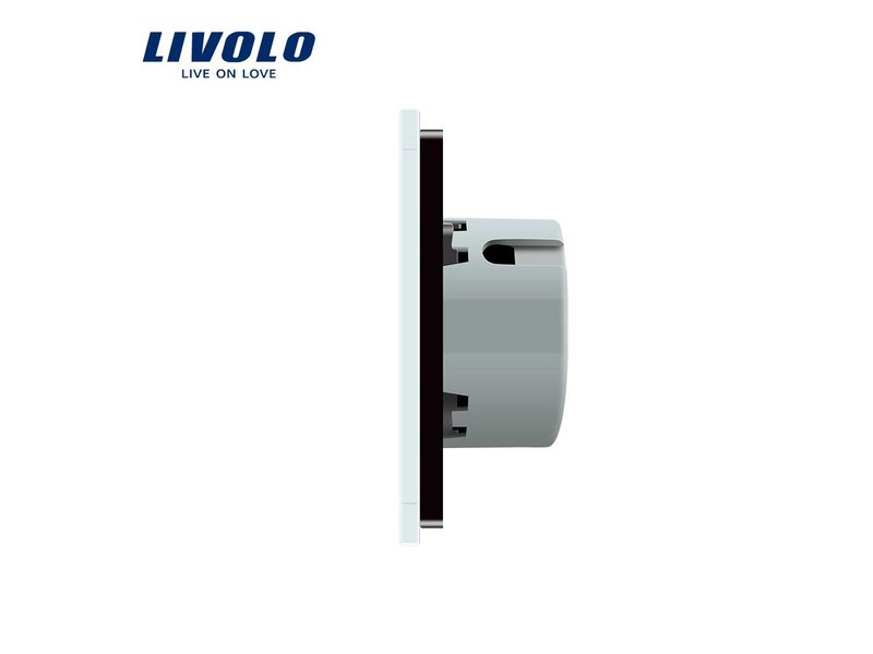 Livolo Design Touch Switch | 1-pole | 1 Gang | 1 Hole | 12/24V