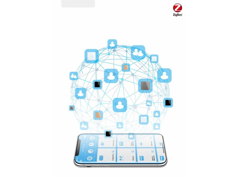 Livolo Design Touch Switch   2 Gang 1 Way   1 Hole  Zigbee   Smart Home