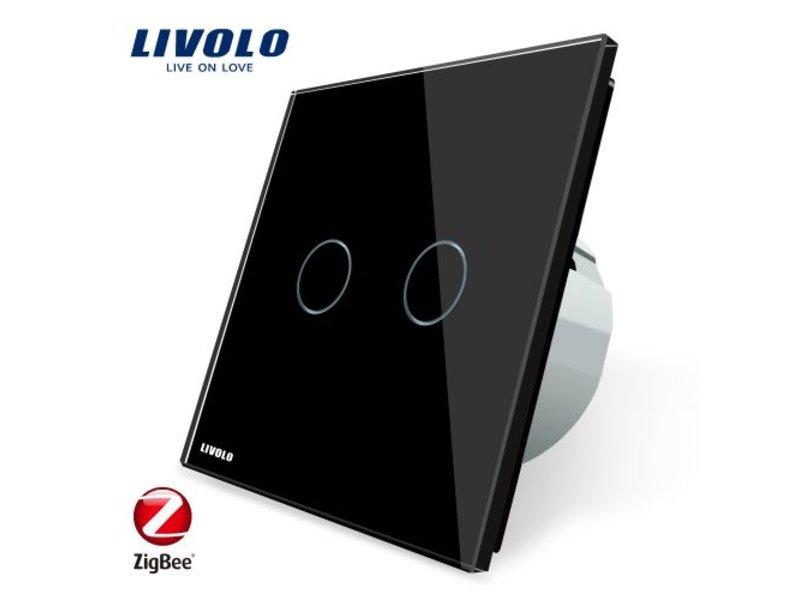 Livolo Design Touch-Schalter | 2-Polig | 1 Fach | Zigbee | Smart Home