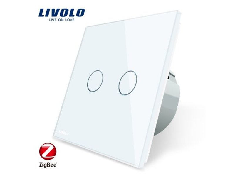 Design Touch Switch | 2 Gang 2 Way | 1 Hole | Zigbee | Smart Home