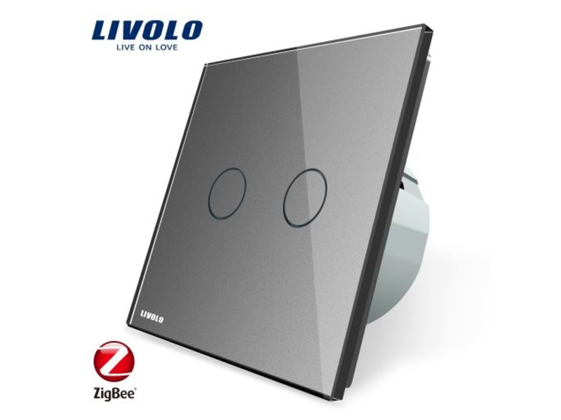 Livolo Design Touch Switch | 2 Gang 2 Way | 1 Hole | Zigbee | Smart Home