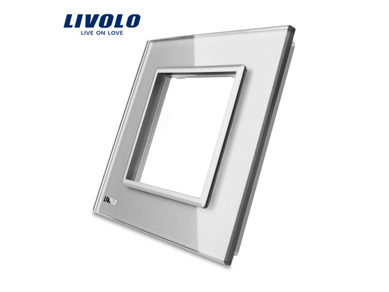 Design Glasplatte | Modul/Steckdose | 1 Fach