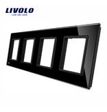 Livolo Design Glaspaneel | 4 x Module/Wandcontactdoos | 4 Raams