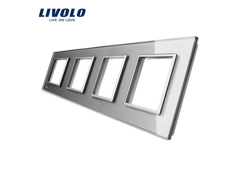 Design Glasplatte | 4 x Modul/Steckdose | 4 Fach