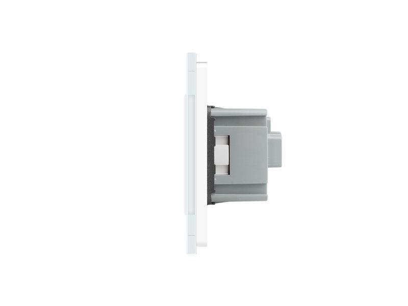 Design Touch Switch | 2-Gang + EU Socket | 2 Hole