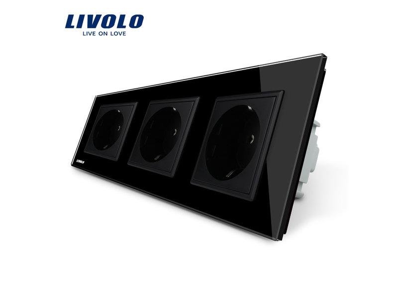 Livolo Design Socket | Triple | EU
