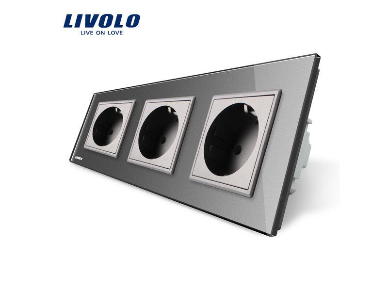 Livolo Design Steckdose | Driefach | EU