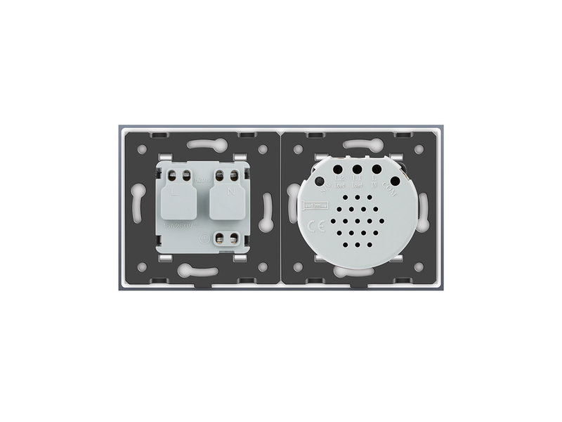 Design Touch Dimmer | Enkelpolig + EU Wandcontactdoos | 2 Raams