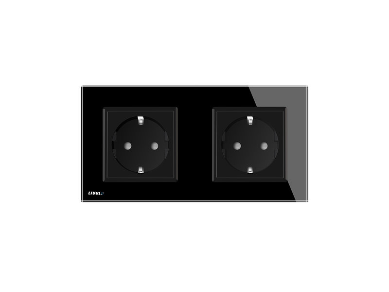 Design Socket | Dual | 2 Hole | EU