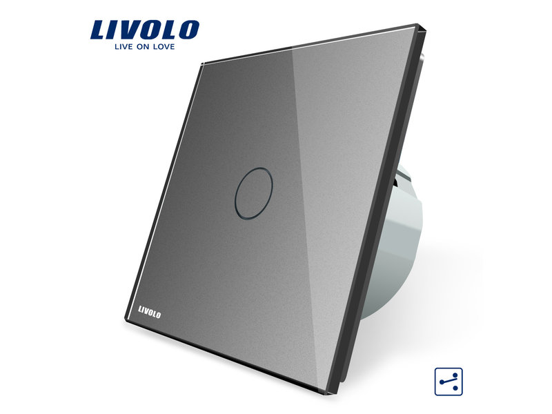 Livolo Design Touch Schakelaar | Enkelpolig | Wissel (Hotel) | 1 Raam