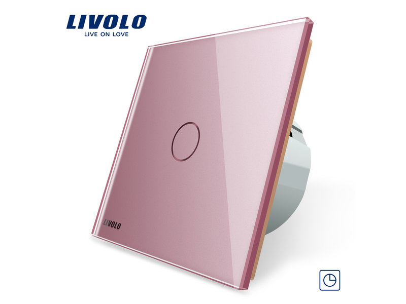 Livolo Design Touch Timer Switch | 1-pole | 1 Gang | 1 Hole