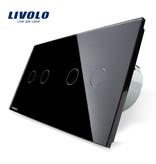 Livolo Design Touch Schakelaar | Serie (2-polig) +  Serie (2-polig) | 2 Raams