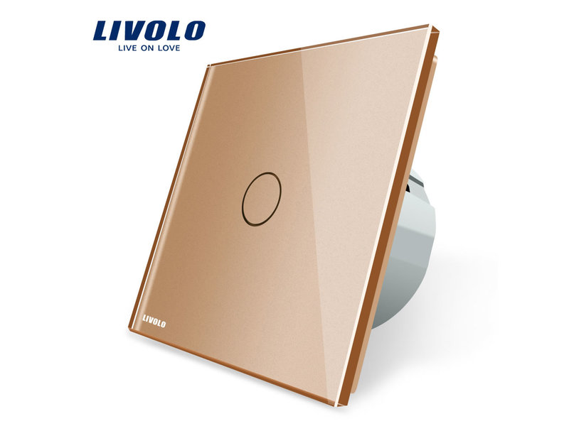 Livolo Design Touch Switch Single pole | Suitable for Fibaro | 1 Hole