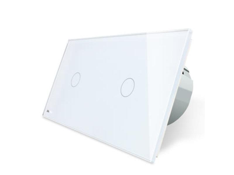 Livolo Design Tastdimmer | Unipolar (1-polig) + einpolige (1-polig) | 2 Raams