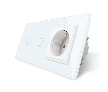 Livolo Touch Switch   2-Gang + EU Socket