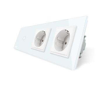Livolo Touch Switch   1-Gang + 2 x EU Socket