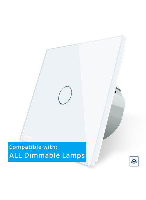 Livolo Touch Dimmer (universal) | Enkelpolig | 1 Gang 1 Way