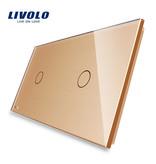 Livolo Design Glaspaneel | Enkelpolig + Enkelpolig | 2 Raams