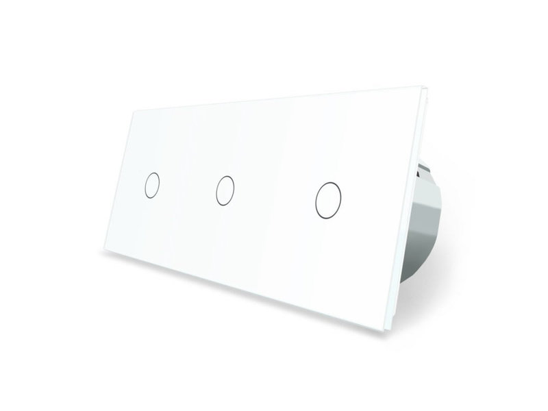 Livolo Design Touch Switch | 3 x Single pole | 3 Hole