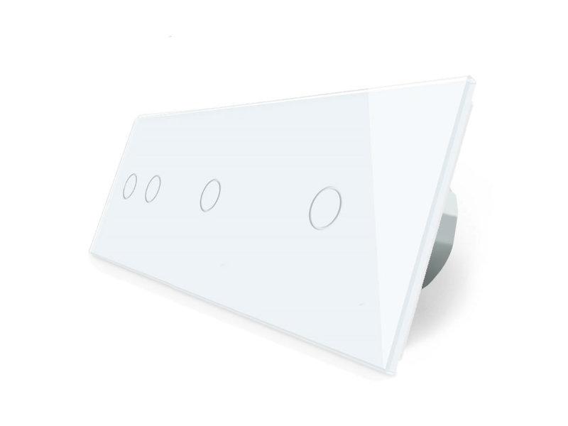 Livolo Design Touch Schakelaar | Serie + 2 x Enkelpolig | 3 Raams