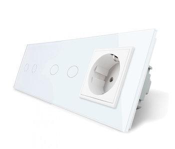 Livolo Touch Switch   2 x 2-Gang + EU Socket