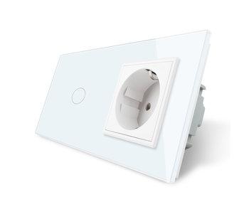 Livolo Touch Dimmer   1-Gang + EU Socket