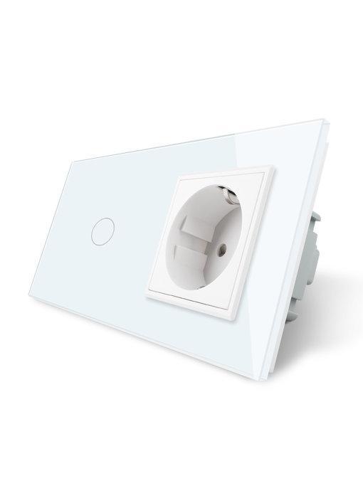 Livolo Touch Dimmer | 1-Polig + EU Steckdose