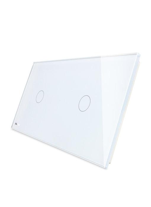 Livolo Glaspaneel | Enkelpolig + Enkelpolig