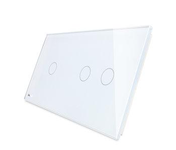 Livolo Glasplatte | 1-Polig + 2-Polig