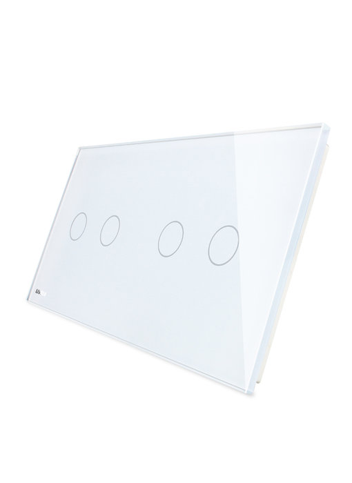 Livolo Glasplatte | 2-Polig + 2-Polig