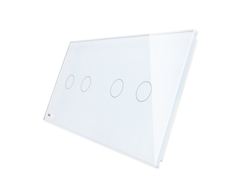 Livolo Design Glaspaneel | Serie + Serie | 2 Raams