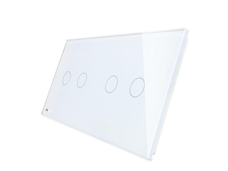 Livolo Design Glasplatte | 2-Polig + 2-Polig | 2 Fach