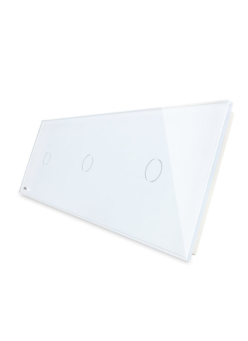 Livolo Glasplatte | 3 x 1-Polig