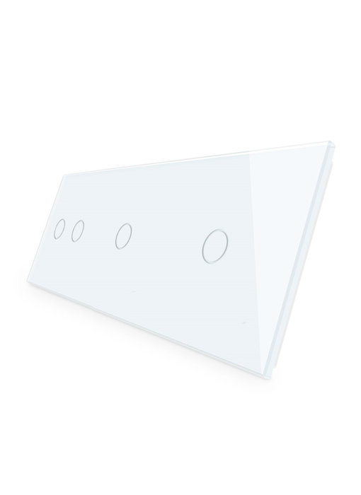 Livolo Glasplatte | 2-Polig + 2 x 1-Polig